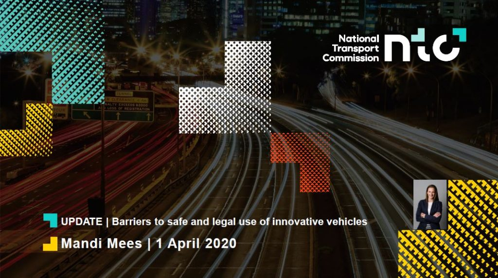 National transport commission - update