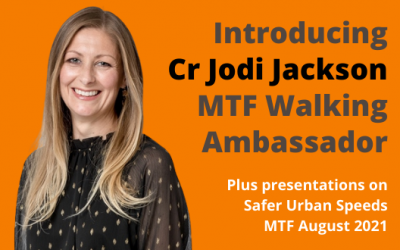 New walking ambassador Cr Jodi Jackson